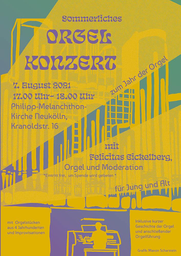 Plakat Einladung Orgelkonzert
